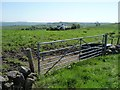 SK0549 : Gated ridgetop field entrance by Christine Johnstone
