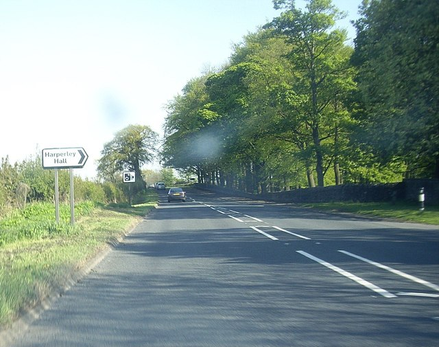 Access to Harperley Hall from A68