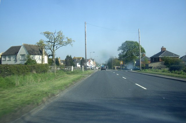 A68 approaching Fir Tree village