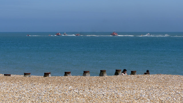 RNLB Golden Jubilee passing Eastbourne