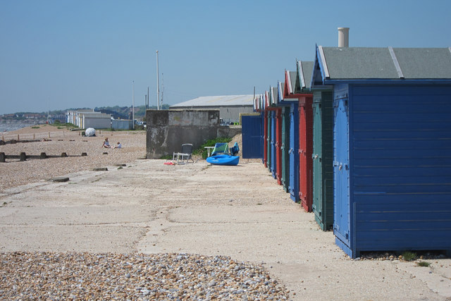Beach huts at West Marina