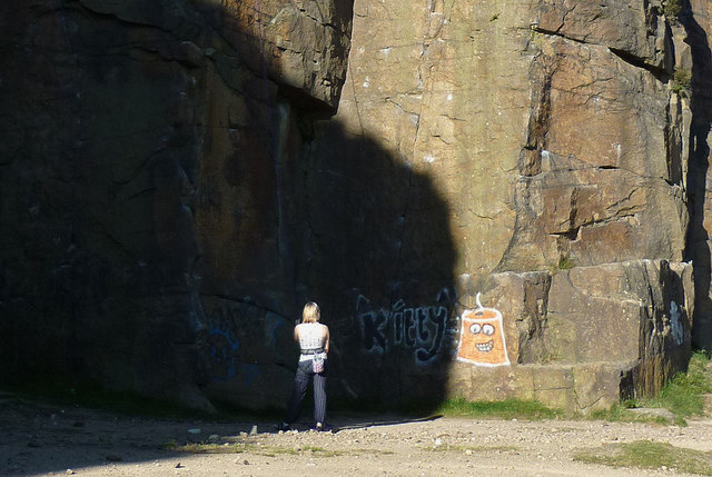 Sunshine and shadow at Hobson Moor Quarry