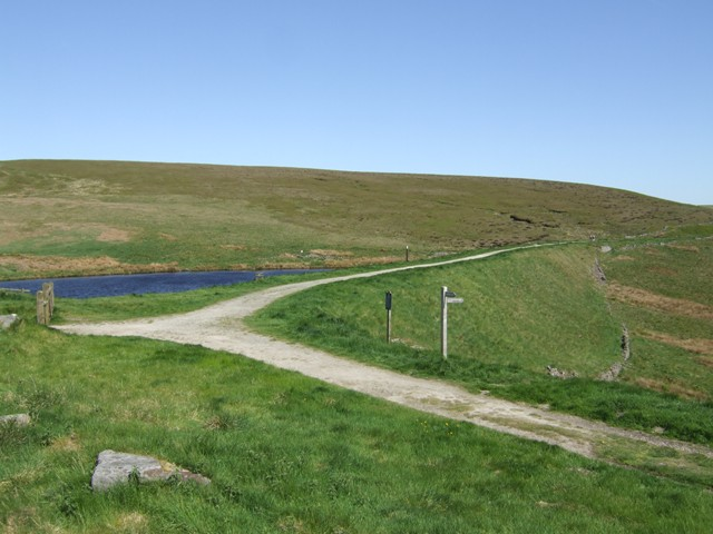 Dam above Errwood Reservoir