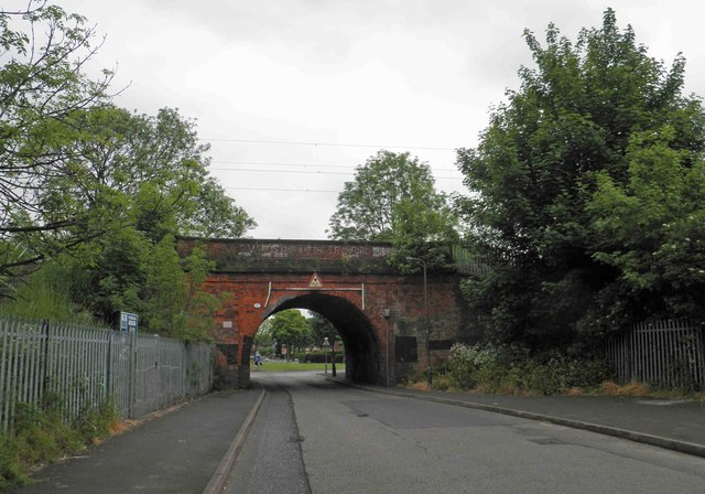 Railway bridge across Crossfield Road
