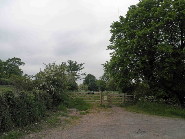 Bridleway off the B5006 Derby Road