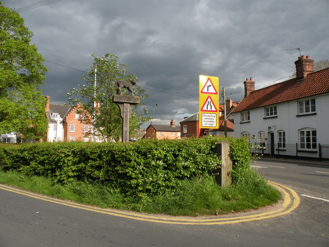 The village sign at East Harling