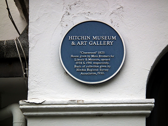 Blue plaque, Hitchin Museum