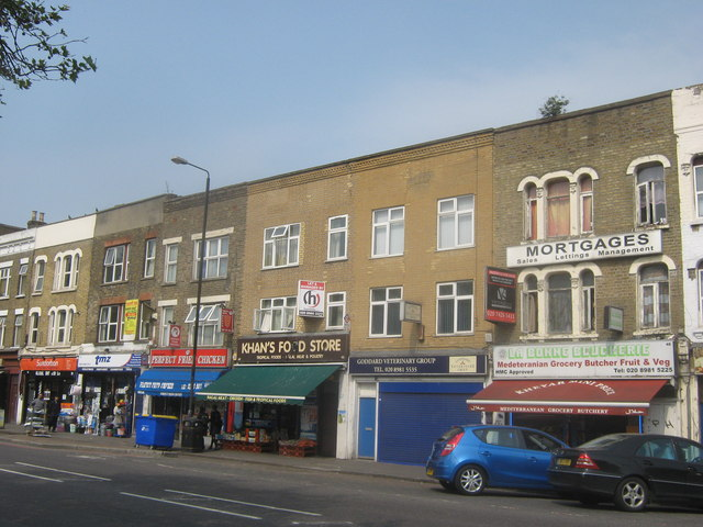 Shops, Burdett Road, Mile End