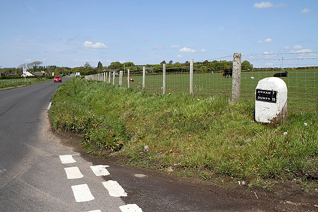 The B724 near Clarencefield