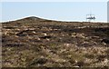 NC5763 : Moorland with communications mast by Dorothy Carse