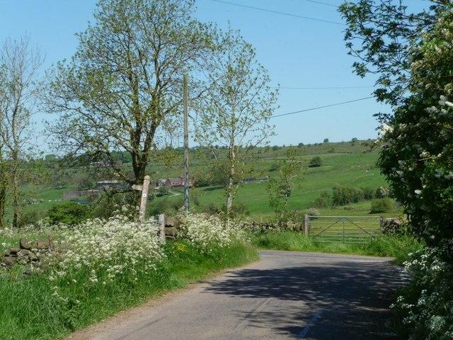Lanehead, east of Shaw-wall