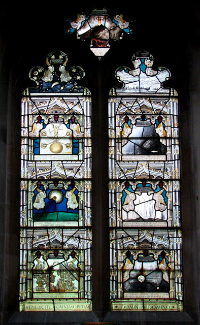 St Mary's church in Swaffham Prior - stained glass