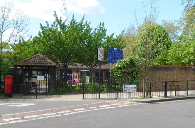 Entrance to St Mary's Primary School, Kilburn