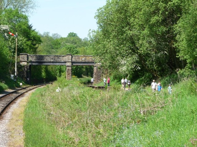 Podmore Bridge crossing canal and railway