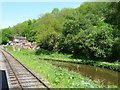 SK0049 : The Caldon Canal at Consall Forge by Christine Johnstone