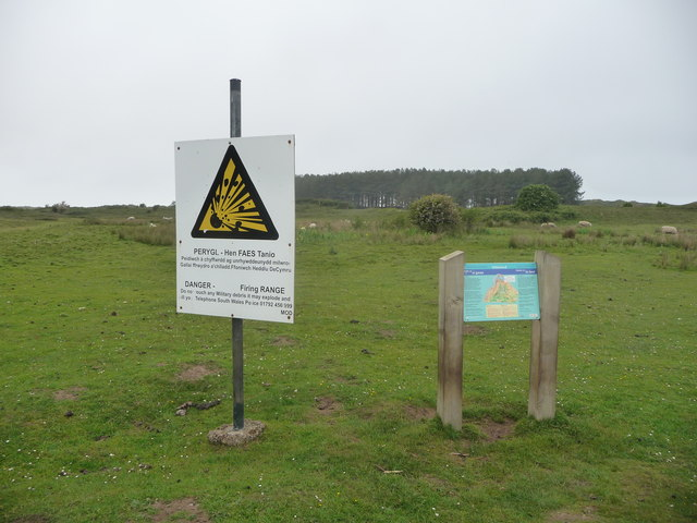 Signage on Whiteford Burrows