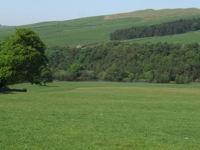 View to the Mill Pool from Crag House Farm