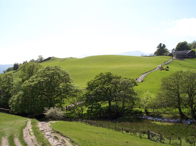 Robins Lane approach to crossing Hol Beck at High Skelghyll