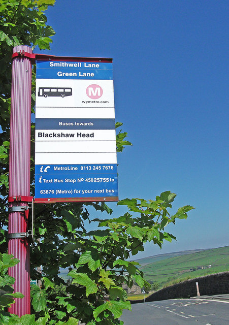 Bus stop on Smithwell Lane