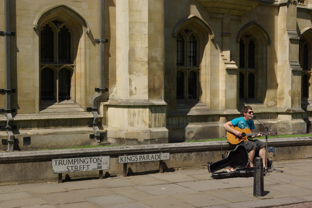 Busking at Cambridge