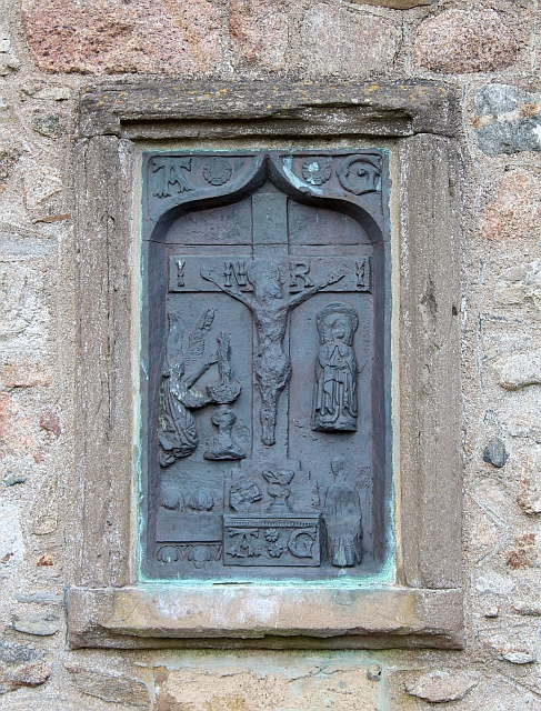 Replica brass panel, Kinkell Church