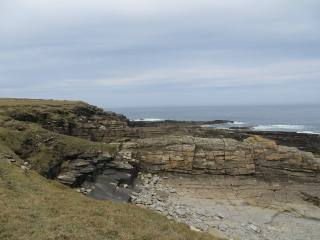 Coast line near Mains of Brims Farm