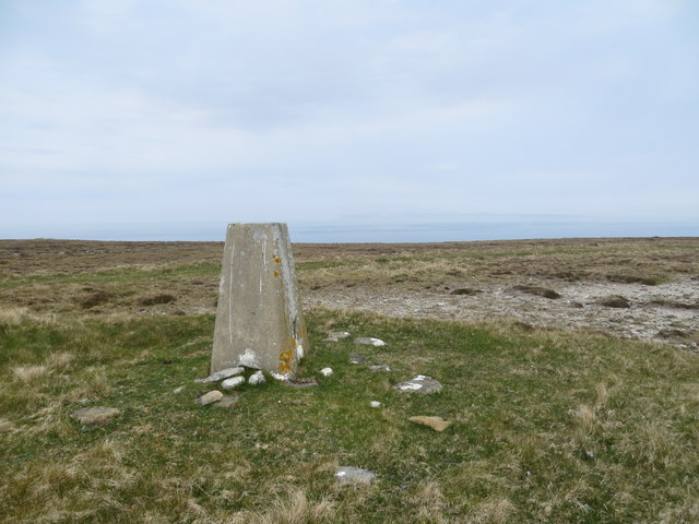 Trig point on Brims Hill overlooking the Pentland Firth