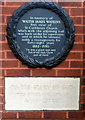 TQ2484 : Memorial wreath to the first vicar of St Cuthberts Church West Hampstead by John Grayson