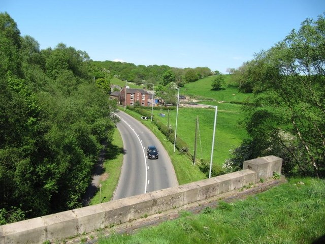 Bend on the A520 near Sheephouse Farm