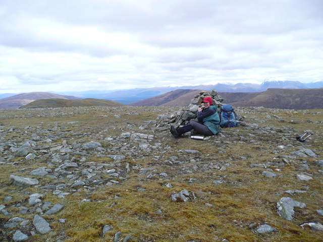 Summit cairn on Meall a' Phubuill
