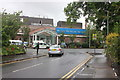 SJ8492 : The Christie Hospital, Wilmslow Road entrance by Peter Turner