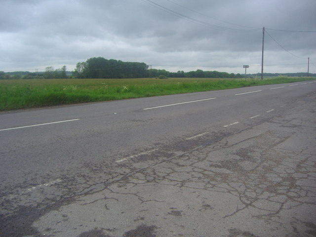 The B1040 near Abbotsley