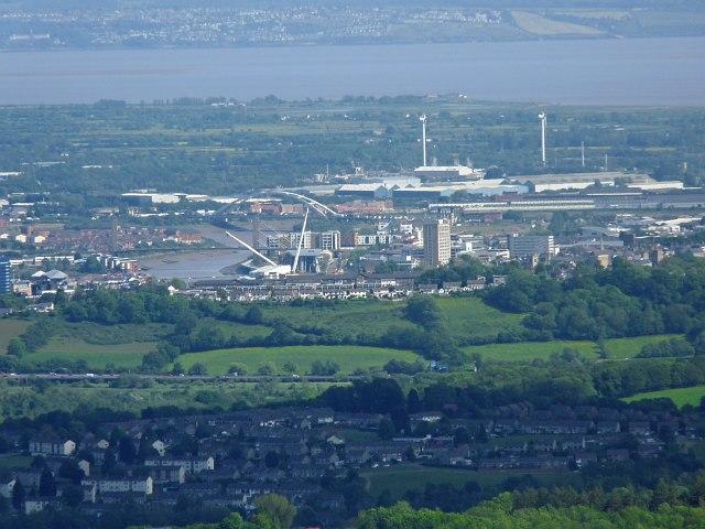 Newport viewed from Mynydd Henllys