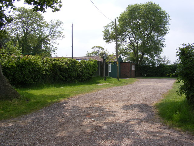 The entrance to Gisleham Village Hall