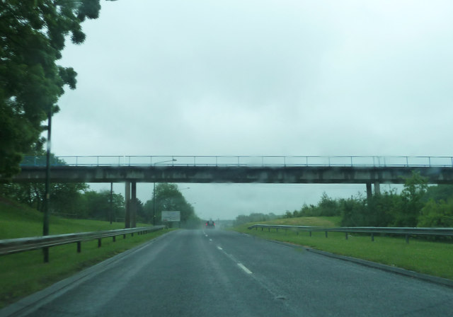 Footbridge over the A5068