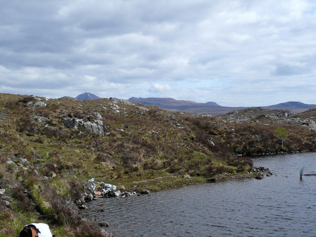 Aircraft wreck at shore of one of Fairy Lochs