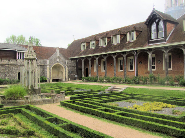 The Armorial Garden and Monks Barn, Ashridge House