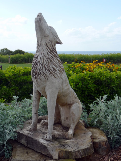Statue of Wolf, Hunstanton, Norfolk.