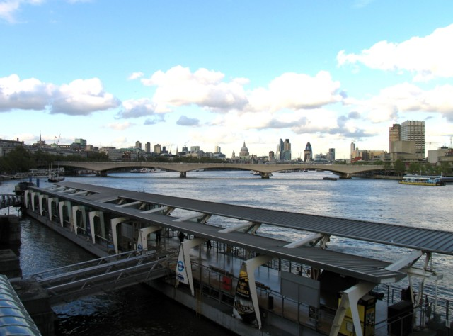 River Thames from Hungerford Footbridge
