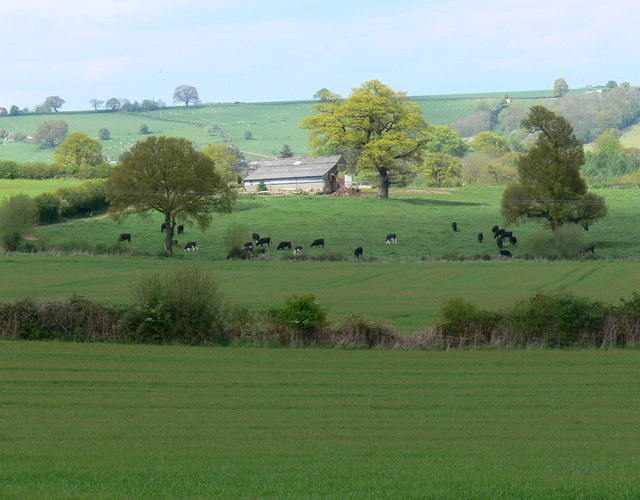 Farmland west of Mamble