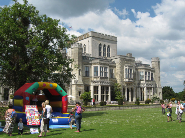 A Bouncy Castle on the Lawn at Ashridge House on Fete Day