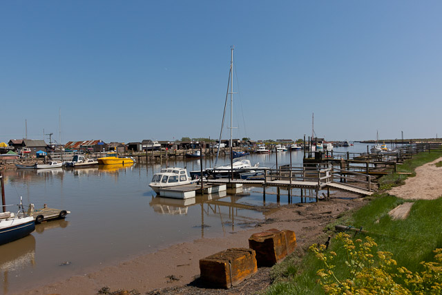 Southwold Harbour & River Blyth approaching the sea