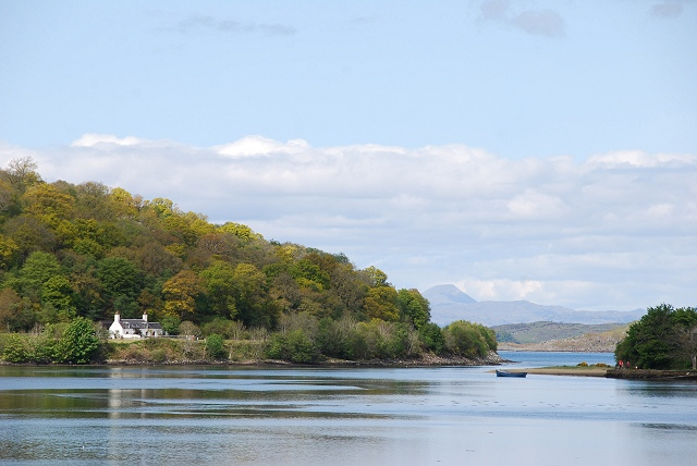 Crinan Bridge Cottage across the Add estuary