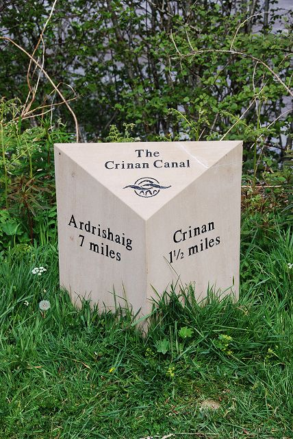Milestone on the Crinan Canal