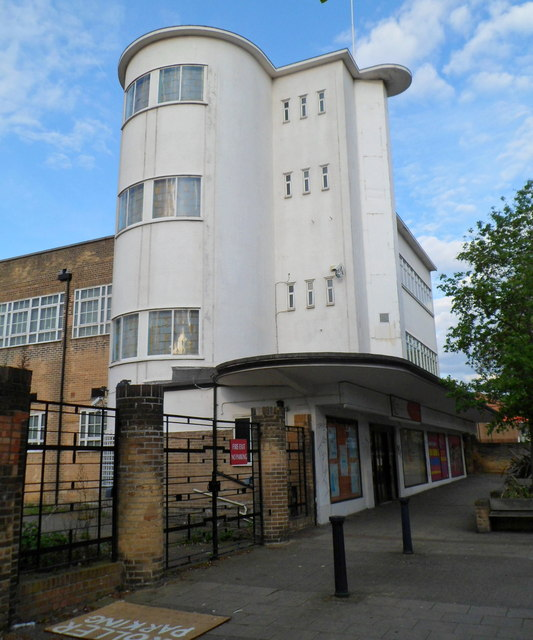 Art Deco exterior, Electric House, Willesden Lane, London NW2
