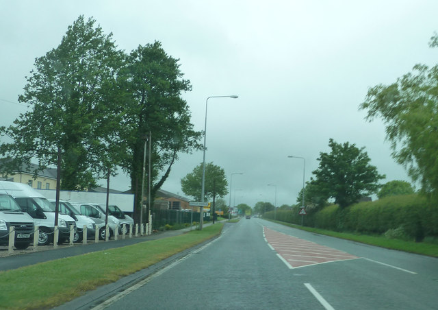 A59, passing  Much Hoole Car Centre