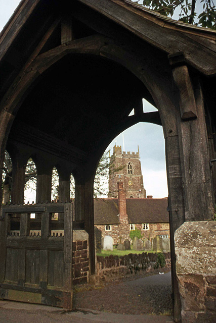 Lych gate, St George's Church, Dunster