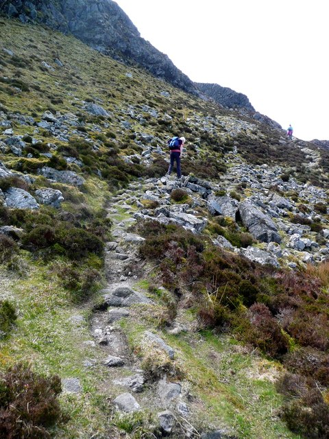 Approaching the steep part of the ascent of An Sgurr
