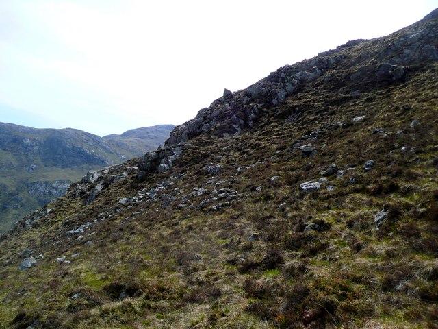 Crags on Druim an Sgcriodain