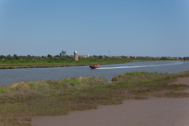 River Blyth with speedboat